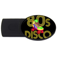 Roller Skater 80s Usb Flash Drive Oval (2 Gb)