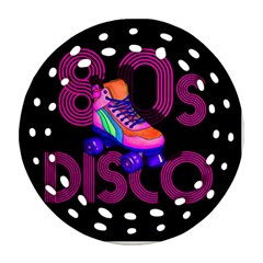 Roller Skater 80s Round Filigree Ornament (two Sides)