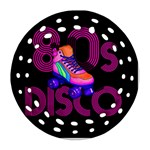 Roller Skater 80s Round Filigree Ornament (Two Sides) Front