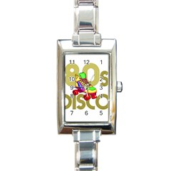 Roller Skater 80s Rectangle Italian Charm Watch by Valentinaart