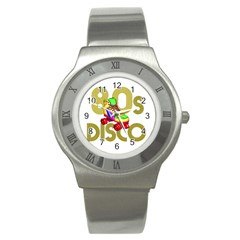 Roller Skater 80s Stainless Steel Watch by Valentinaart
