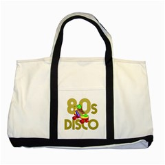 Roller Skater 80s Two Tone Tote Bag