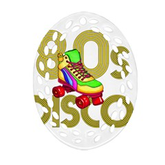 Roller Skater 80s Ornament (oval Filigree) by Valentinaart