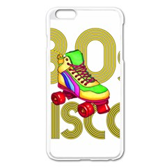Roller Skater 80s Apple Iphone 6 Plus/6s Plus Enamel White Case by Valentinaart