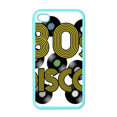 80s Disco Vinyl Records Apple Iphone 4 Case (color) by Valentinaart