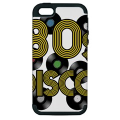 80s Disco Vinyl Records Apple Iphone 5 Hardshell Case (pc+silicone)