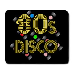 80s Disco Vinyl Records Large Mousepads by Valentinaart
