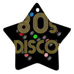 80s Disco Vinyl Records Star Ornament (two Sides) by Valentinaart