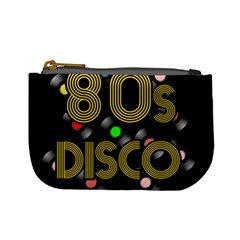 80s Disco Vinyl Records Mini Coin Purses by Valentinaart