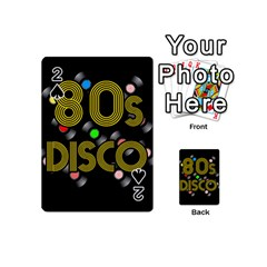 80s Disco Vinyl Records Playing Cards 54 (mini)  by Valentinaart