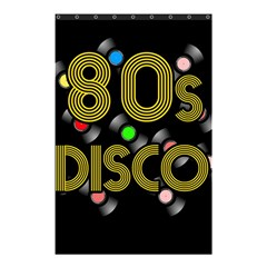 80s Disco Vinyl Records Shower Curtain 48  X 72  (small)  by Valentinaart