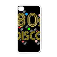 80s Disco Vinyl Records Apple Iphone 4 Case (white) by Valentinaart