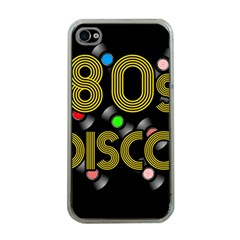 80s Disco Vinyl Records Apple Iphone 4 Case (clear)