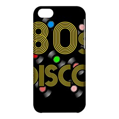 80s Disco Vinyl Records Apple Iphone 5c Hardshell Case by Valentinaart
