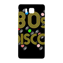 80s Disco Vinyl Records Samsung Galaxy Alpha Hardshell Back Case by Valentinaart