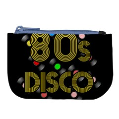 80s Disco Vinyl Records Large Coin Purse by Valentinaart