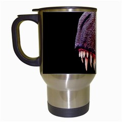 Dinosaurs T Rex Travel Mugs (white) by Valentinaart