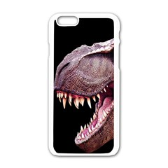 Dinosaurs T Rex Apple Iphone 6/6s White Enamel Case by Valentinaart