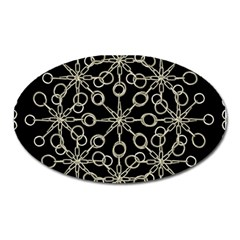 Ornate Chained Atrwork Oval Magnet