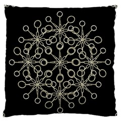 Ornate Chained Atrwork Large Flano Cushion Case (one Side) by dflcprints