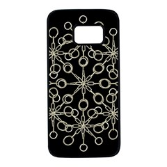 Ornate Chained Atrwork Samsung Galaxy S7 Black Seamless Case by dflcprints