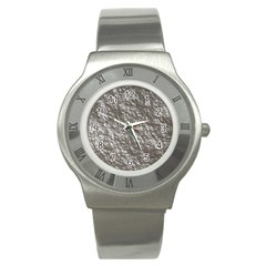 Crumpled Foil 17b Stainless Steel Watch by MoreColorsinLife