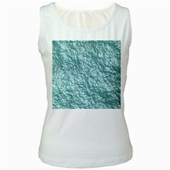 Crumpled Foil 17e Women s White Tank Top by MoreColorsinLife