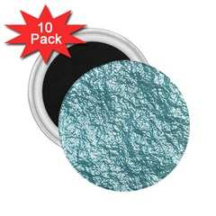 Crumpled Foil 17e 2 25  Magnets (10 Pack)  by MoreColorsinLife
