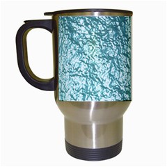 Crumpled Foil 17e Travel Mugs (white) by MoreColorsinLife