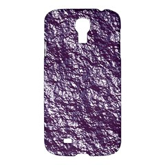 Crumpled Foil 17f Samsung Galaxy S4 I9500/i9505 Hardshell Case by MoreColorsinLife