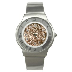 Crumpled Foil 17a Stainless Steel Watch by MoreColorsinLife