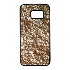 Crumpled Foil 17a Samsung Galaxy S7 Black Seamless Case by MoreColorsinLife
