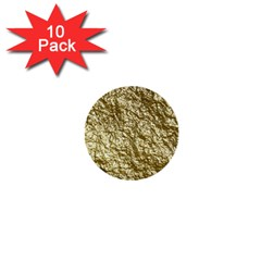 Crumpled Foil 17c 1  Mini Buttons (10 Pack)  by MoreColorsinLife