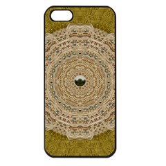 Golden Forest Silver Tree In Wood Mandala Apple Iphone 5 Seamless Case (black) by pepitasart