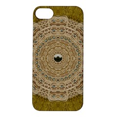 Golden Forest Silver Tree In Wood Mandala Apple Iphone 5s/ Se Hardshell Case by pepitasart