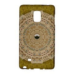 Golden Forest Silver Tree In Wood Mandala Galaxy Note Edge by pepitasart