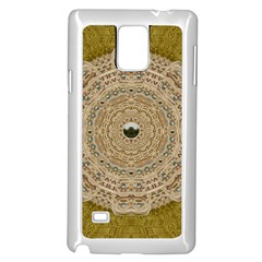 Golden Forest Silver Tree In Wood Mandala Samsung Galaxy Note 4 Case (white) by pepitasart