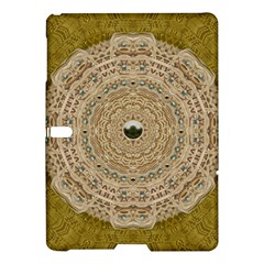 Golden Forest Silver Tree In Wood Mandala Samsung Galaxy Tab S (10 5 ) Hardshell Case  by pepitasart