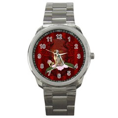 Sweet Little Chihuahua Sport Metal Watch by FantasyWorld7