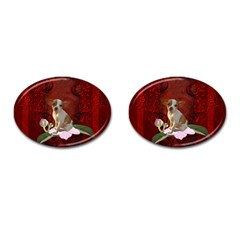 Sweet Little Chihuahua Cufflinks (oval) by FantasyWorld7