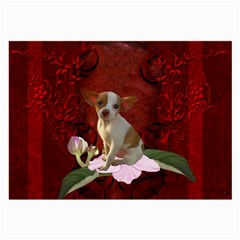 Sweet Little Chihuahua Large Glasses Cloth by FantasyWorld7