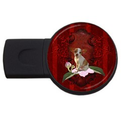 Sweet Little Chihuahua Usb Flash Drive Round (4 Gb) by FantasyWorld7
