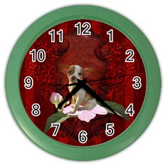Sweet Little Chihuahua Color Wall Clocks by FantasyWorld7