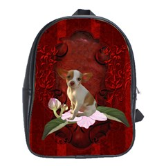 Sweet Little Chihuahua School Bags(large)  by FantasyWorld7