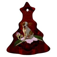 Sweet Little Chihuahua Christmas Tree Ornament (two Sides) by FantasyWorld7