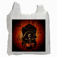 Halloween, Funny Mummy With Pumpkins Recycle Bag (one Side) by FantasyWorld7