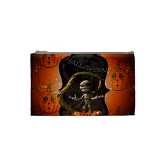 Halloween, Funny Mummy With Pumpkins Cosmetic Bag (small)  by FantasyWorld7