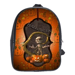 Halloween, Funny Mummy With Pumpkins School Bags (xl)  by FantasyWorld7