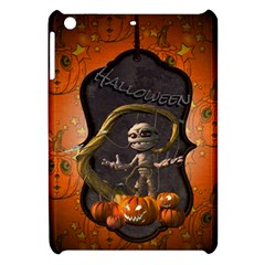 Halloween, Funny Mummy With Pumpkins Apple Ipad Mini Hardshell Case by FantasyWorld7