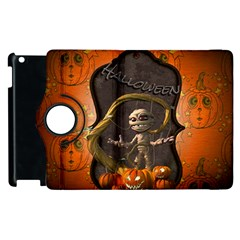 Halloween, Funny Mummy With Pumpkins Apple Ipad 2 Flip 360 Case by FantasyWorld7